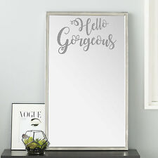 Mirror Opaque Etch Vinyl Wall Art - Hello Gorgeous, Hello Handsome