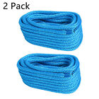 """2 Pack 1/2"""" 35 FT Marine Double Braided Nylon Dock Line Boat Rope and Ties"""