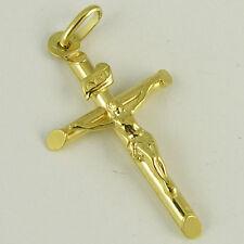 UNOAERRE 18k Yellow Gold Cross Pendant, 0.98 inch (new cross pendant 1.3g) #142