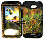 KoolKase Hybrid Silicone Cover Case for HTC One X S720e - Camo Mossy 02