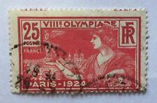 Timbres YT 184b oblitéré (centre très déplacé). Jeux olympiques Paris. Cote 150€