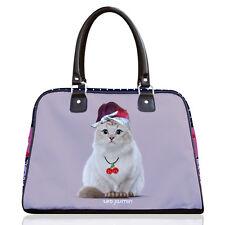 Teo Jasmine America Cat Lovers Bowling Bag Handbag Tote 'Rockabilly' 50s Style