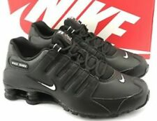 Nike Shox NZ Size 10 Black leather White swoosh logo Size