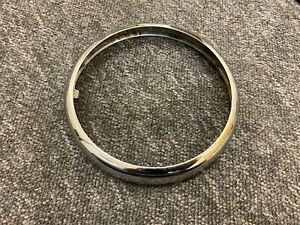 "New BSA TRIUMPH NORTON AJS MATCHLESS CHROME MU42 6 1/2"" HEADLIGHT HEADLAMP RIM"