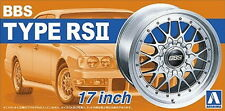 Aoshima Models 1/24 17inch BBS RSII Wheels and Tyres Set (4 Wheels + 4 Tyres)