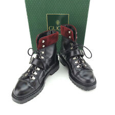 Gucci boots Black Red Woman Authentic Used Y5334