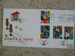 1989 GAMES & TOYS GPO FIRST DAY COVER, LISTED MEDWAY & SWALE SLOGAN PMK