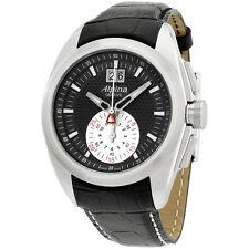Alpina Nightlife Club Black Dial Leather Strap Men's Watch AL353BS4RC6
