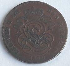 Belgique, Leopold II, 2 Centimes, 1870, B+, Cuivre, Belgïe