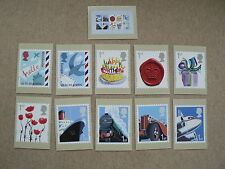 Smilers Business 2010, PHQ Stamp Cards, FDI Special H/S Back, Set of 11 inc m/s