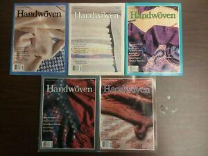HANDWOVEN Magazine - complete 1989 set of 5