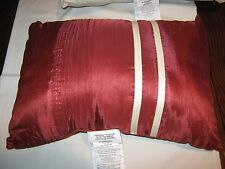 """Royal Heritage Home , Pillow , Red and White Stripe  , 18"""" X 12"""""""