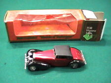 Matchbox Y17 1938 Hispano Suiza 1/48 Cranberry Red/Black In Box