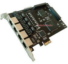 TE420 - 4 Port PRI T1 E1 Card ISDN PCIe Supports Sangoma Freepbx,Asterisk,Dahdi