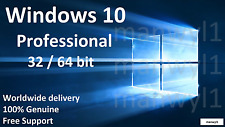 Windows 10 Professional Pro 32 / 64 bit Product Activation License Key Scrap PC