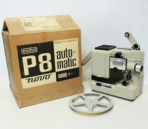 EUMIG P8 Automatic Cine Film Movie Projector 8 mm Film Boxed -254