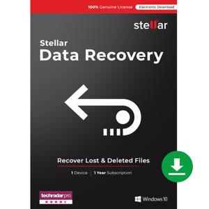 Stellar Data Recovery Software   Windows   Standard   1 PC 1 Year   Download