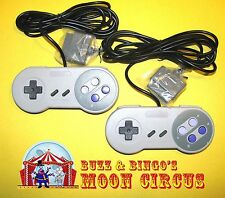2 NEW SUPER NINTENDO GAMEPAD SNES CONTROLLER - FREE SHIPPING!