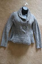 Dressbarn Women's Cardigan Open Front Grey Size S Small