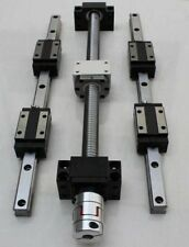 2 set HSR20-1000mm Linear Rail &RM1605-1050mm Ballscrew&BF12/BK12 &Coupling