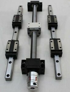 2 set HSR20-1400mm Linear Rail &RM1605-1400mm Ballscrew&BF12/BK12 &Coupling