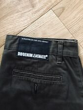 Dr Denim Jeans makers W 32 L 32 Pantalón Chino Pants Vintage Verde Army Militar