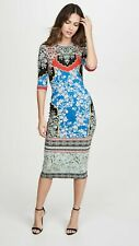 2019 NWT Alice + Olivia Delora Fitted Palace Daffodil Dress $350 Sz 6 Small