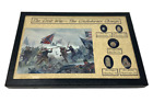 Confederate Charge in the Civil War Bullet Set with Glass Topped Display Case