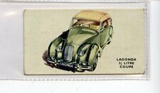 (Jd6255) KELLOGGS,MOTOR CARS,COLOUR,LAGONDA 2/HALF LITRE COUPE,1949,#18