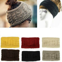 Beanie Tail Messy Bun Hat Ponytail Stretchy Knit Winter Skull Women Head Band UK