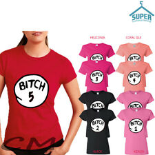 BITCH 1 2 3 ,4,5...20 BITCH 1 PARTY T SHIRT FUNNY LADY PARTY TEE 1-30 ALL NUMBER