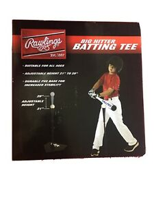 """Tanners Rawlings Big Hitter Batting Tee - Adjustable Height 21"""" To 29"""""""