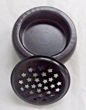 "Starry Screen Metal Incense Burner: 3 1/2"" for Charcoal Tablets & Resin Incense"