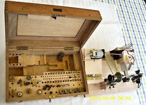 Uhrmacherdrehbank Lorch Schmidt & Co. betriebsbereit, mit schön. Zub.Kästchen