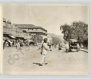 JAIPUR, INDIA City Villager & Street View Vintage 1930 Urban Travel Press Photo