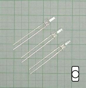 10 Stück Led 2mm weiß+ Widerstand - E121