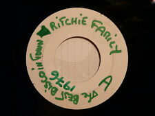 RITCHIE FAMILY The best disco in town 1976 TEST PRESSING