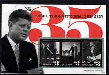Grenada 2011 MNH presidente John F. Kennedy cinquantesimo anniv inaugurale II 3V S / S ci JFK