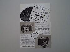 advertising Pubblicità 1941 KODAK DUO II 620/RETINA II A