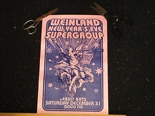 2 ORIGINAL RARE Weinland New Years Eve 2012 Gig Poster REALLY COOL! Portland OR