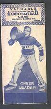 1929 Peoples Baking Football Card University of  California Cheerleader