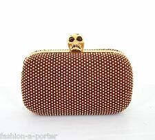 ALEXANDER McQUEEN STUDDED SKULL BOX CLUTCH SHOULDER BAG BNWT DETACHABLE STRAP