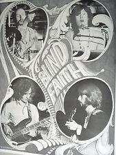 Vintage Blind Faith Poster Eric Clapton Baker Winwood Grech Frank Kay 1969 60s