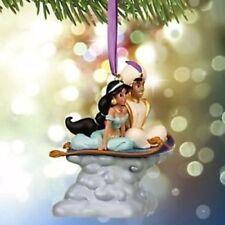Disney Store Christmas Ornament 2015 Musical Aladdin and Jasmine