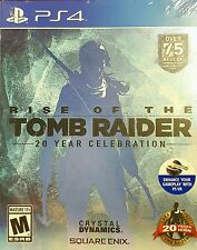 RISE OF THE TOMB RAIDER 20 YEAR CELEBRATION * PLAYSTATION 4 * BRAND NEW SEALED!