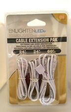 EnlightenLEDs Cable Extension Pack for LED Strips Two Lengths Power Cord 12 Volt