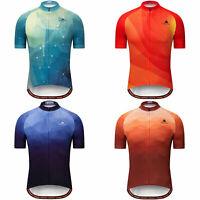 Miloto Men's Short Sleeve Cycling Jersey Full Zip Bike Bicycle Shirt Reflective