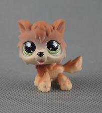 Littlest Pet Shop LPS788 Toys Puppy Star Green Eyes Animals Cream Wolf Dog