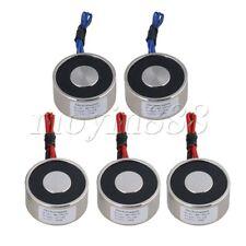 5PCS Metal 55 LB 25kg Electric Lifting Magnet Holding Electromagnet 12V DC 250N