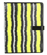 Marc Jacobs Wildcard Multi Neon Snake Leather Tablet iPad Folio Book Case NWT